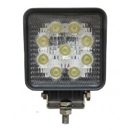 Světlo hranaté 9 LED OFF-ROAD 27W 10-30V