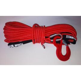 Syntetické lano 10 mm x 28 m s hákem ( ochranný oplet )